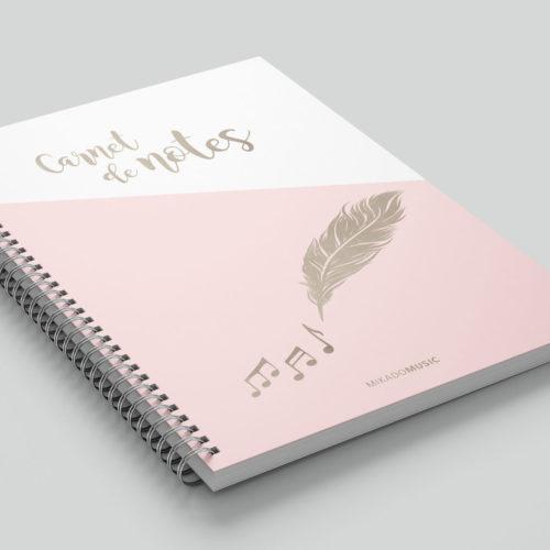 carnet de notes rose
