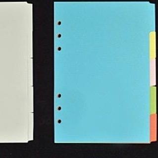 intercalaires carton blanc et kraft
