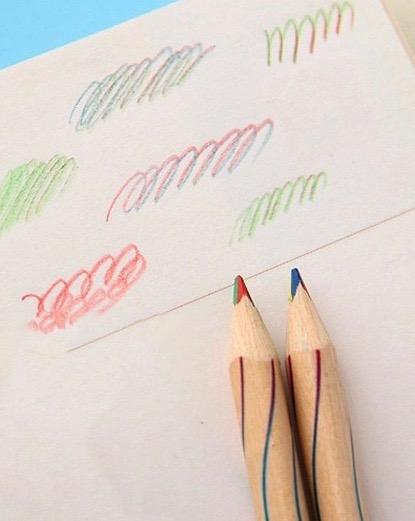 crayon multicolore 3