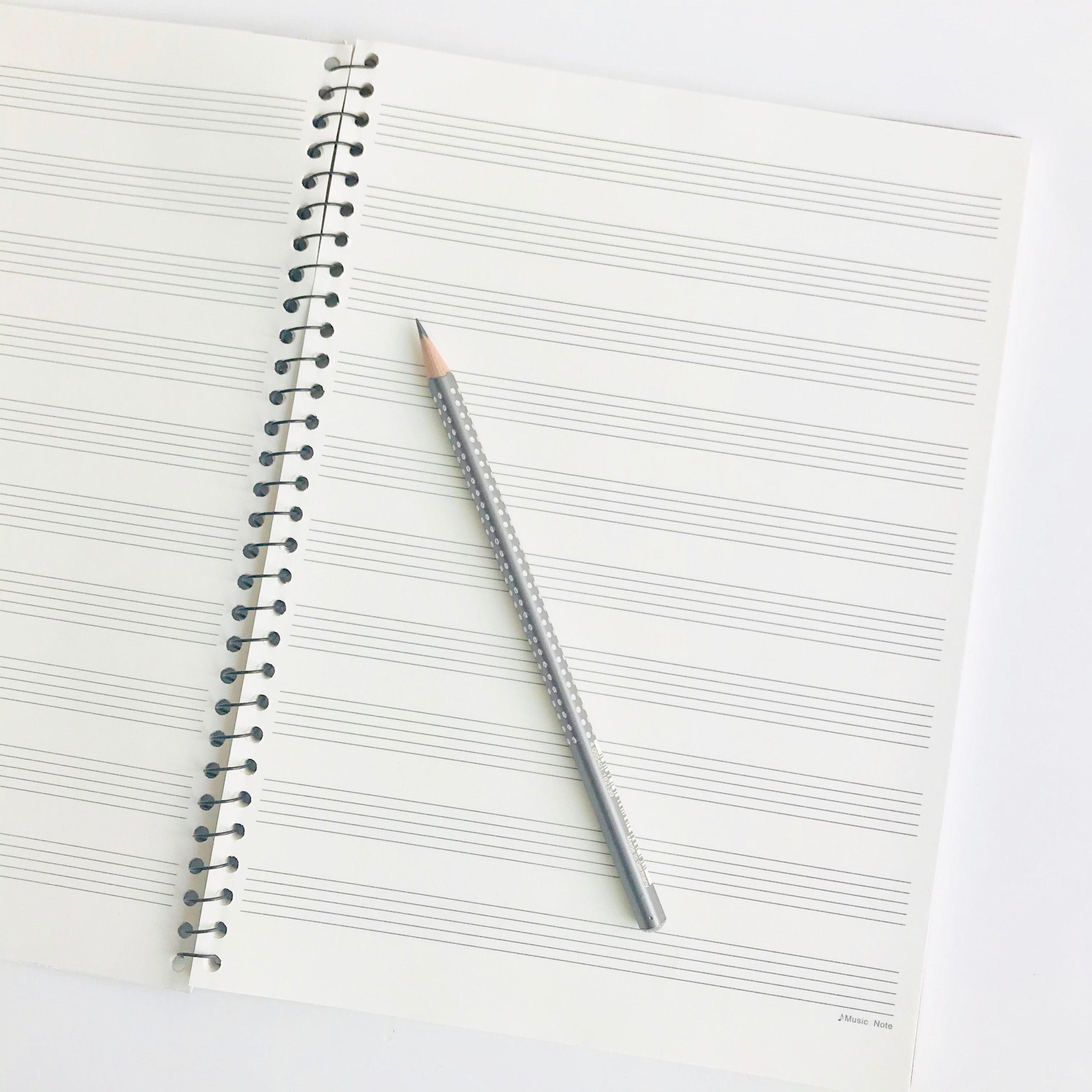 cahier de musique 10 portées