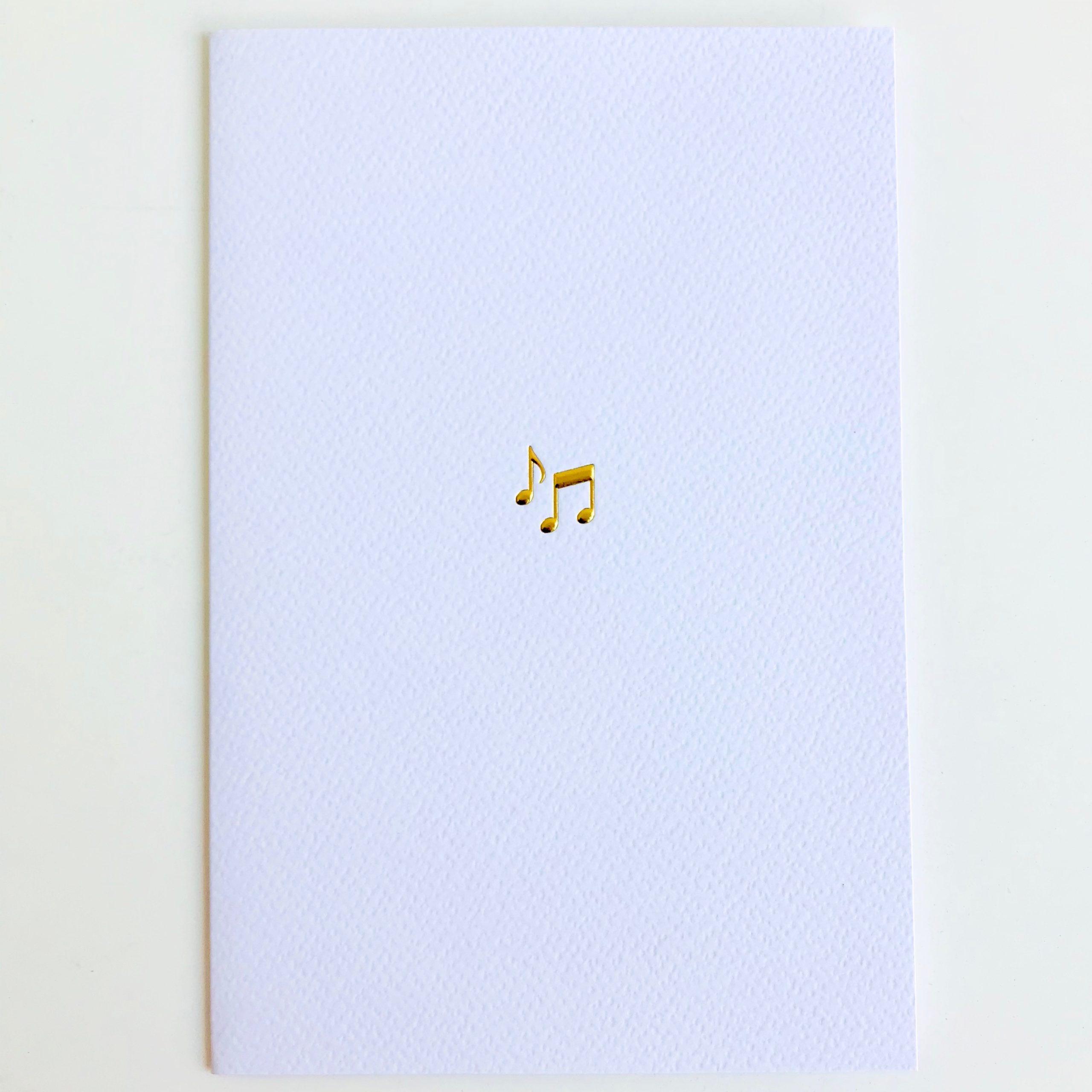 carte croches dorées