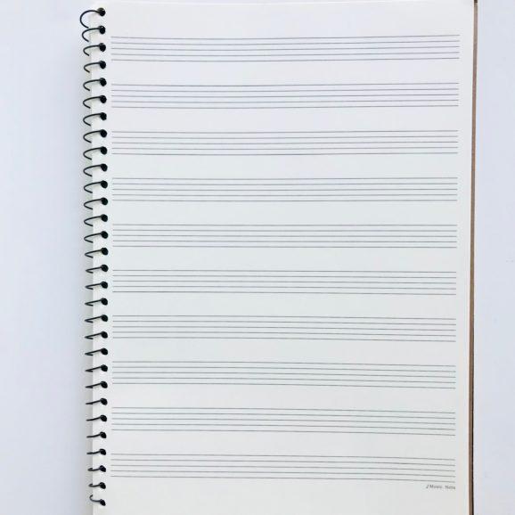 cahier de musique 10 portées 2