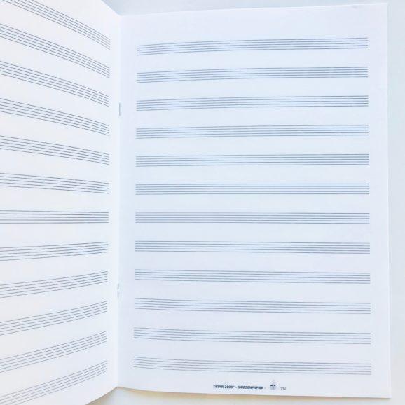 cahier de musique A4 12 portées 2