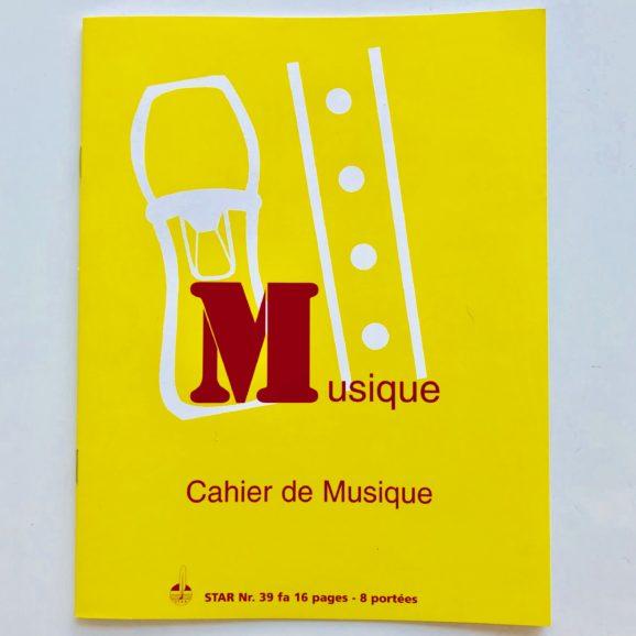 cahier de musique A5 quadrillé et 8 portées