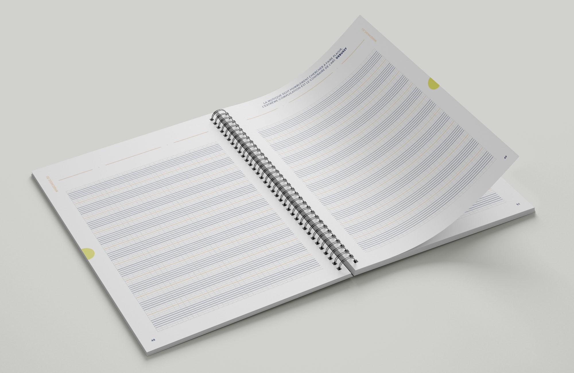 Les cahiers avec portées seules