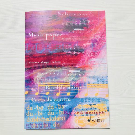 cahier de musique Schott A5