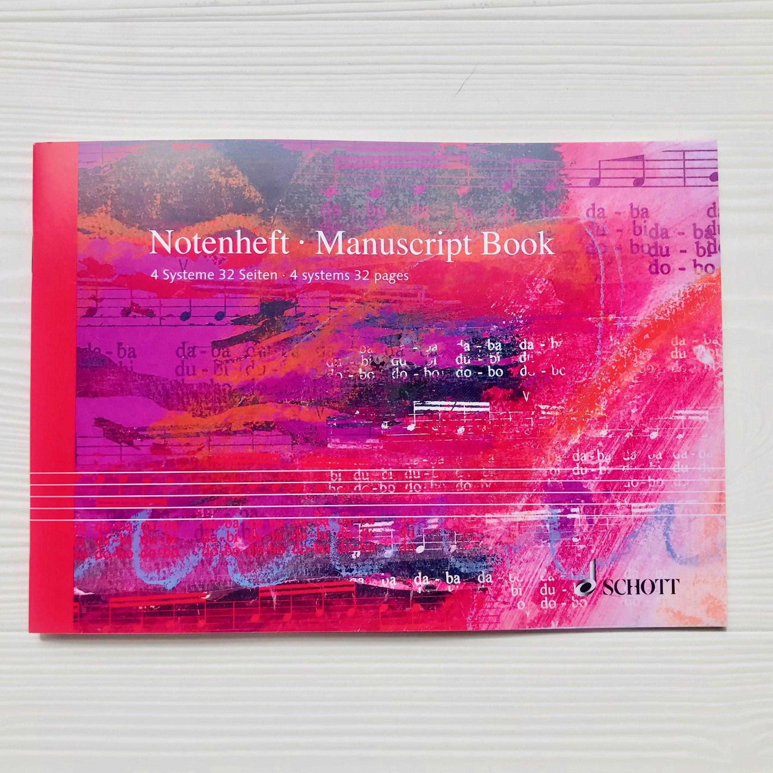 cahier de musique Schott italien 4 portées