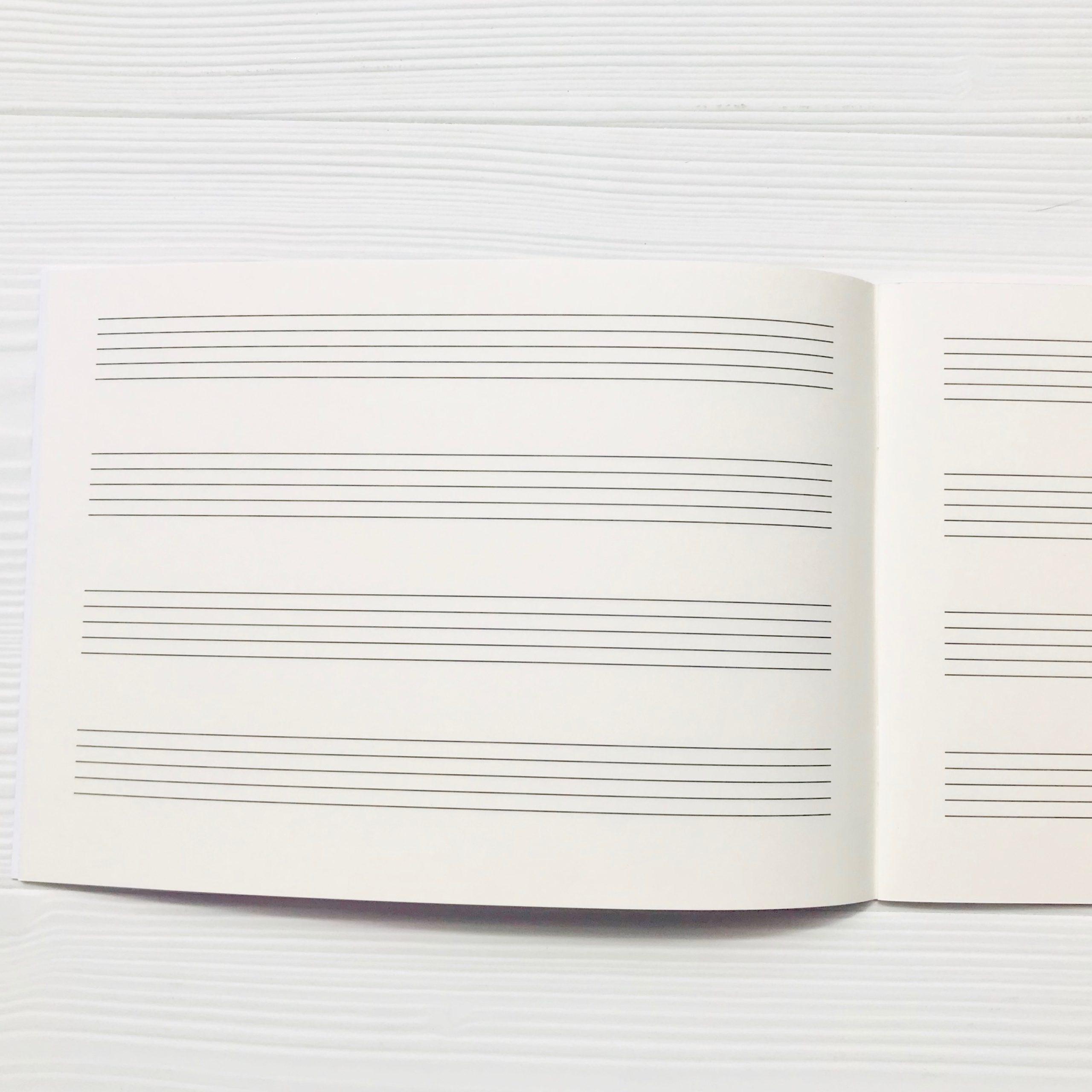 cahier de musique Schott italien 4 portées2