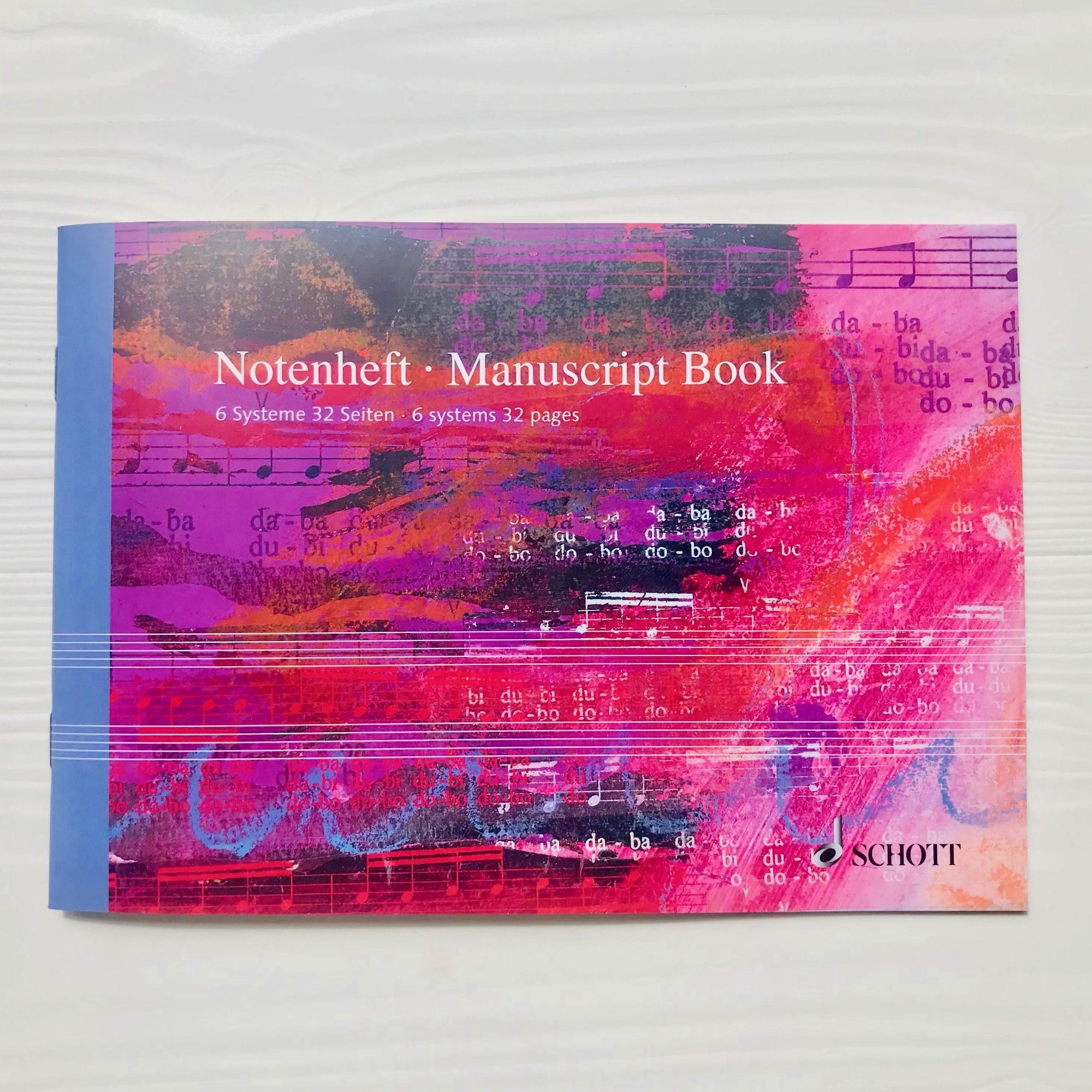 cahier de musique Schott italien 6 portées