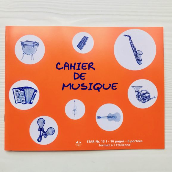 cahier de musique Star N13