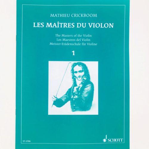Crickboom maîtres du violon 1