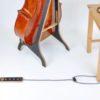 Planche pour violoncelle réglable en bois et cuir